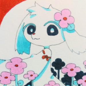 ミニ原画「白い獣」