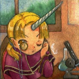 ミニ原画「診断メーカーの子3」