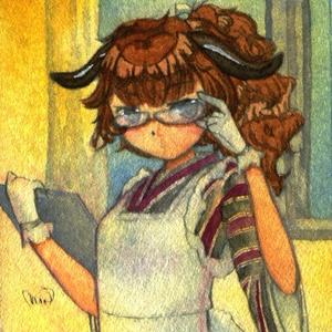 ミニ原画「診断メーカーの子4」