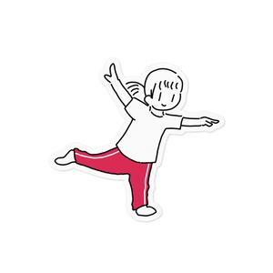 ダンスちゃん ステッカー
