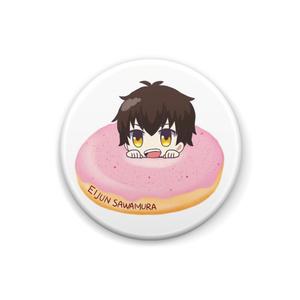ダイヤのA ドーナツ缶バッジ◎沢村栄純