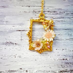 花の絵画*ネックレス