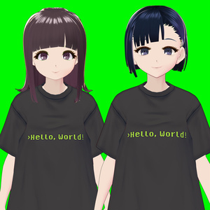 【VRoid】Hello, World! Tシャツ
