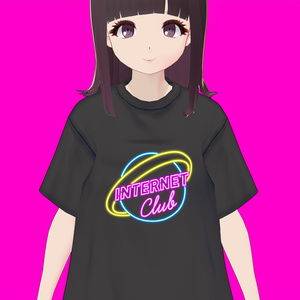 【VRoid】インターネットクラブロゴ Tシャツ