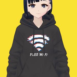 【VRoid】FREE Wi-Fi パーカー