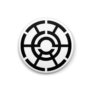 某社のロゴマーク缶バッジ
