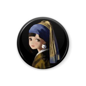 モナーの耳飾りモナコインちゃん缶バッジ