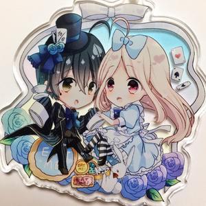 アリスと帽子屋アクキー(最赤)