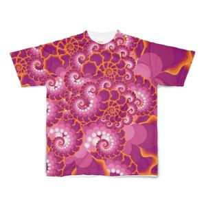 イラレで作ったフラクタルっぽい模様フルグラフィックTシャツ
