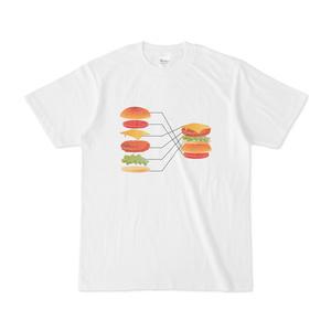 ハンバーガー失敗Tシャツ