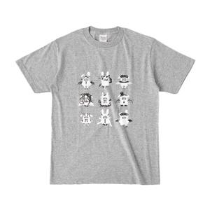 トリハダサンTシャツ(薄いグレー)