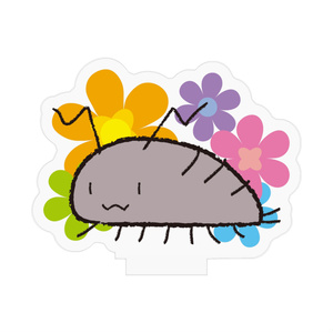 ワラジ虫と花アクリルフィギュア