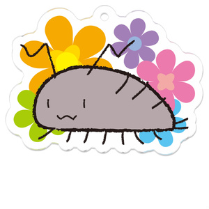 ワラジ虫と花アクキー