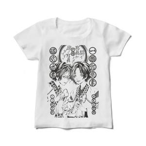 瑠果一三モノクロ御婦人向きTシャツ