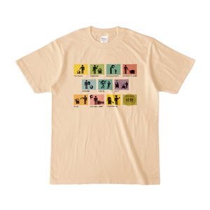ピクトグラム妖怪Tシャツ(渋め)
