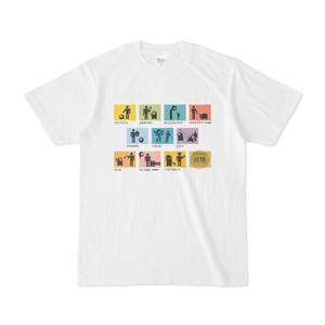 ピクトグラム妖怪白Tシャツ(値下げ版)