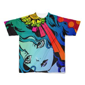 【値下げ版】顔色悪い娘フルグラフィックTシャツ