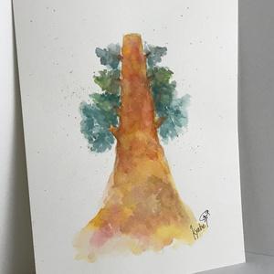 原画【B5】水彩イラスト「夢の木」