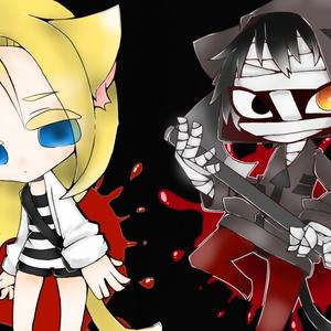 【殺戮の天使】猫耳ザック&猫耳レイ【アクリルキーホルダー】