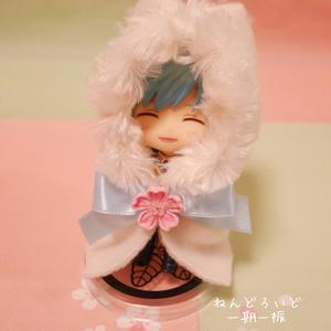 桜と🎀推し色リボン🎀のファーケープ(M)