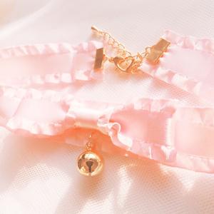 フリルリボンチョーカー ピンク
