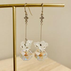 宝石の国ダイヤモンドイメージフラワー耳飾り