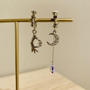 月人に攫われる宝石イメージ耳飾り