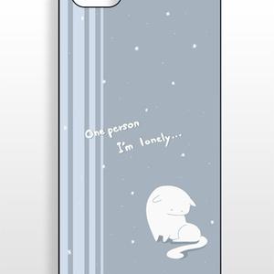 iphoneケース さみしいねこ