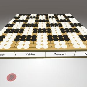 ワールド用小物 囲碁盤 (計数機能付き) [VRChat]