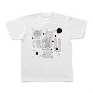 図形楽譜Tシャツ「終点のダンス」