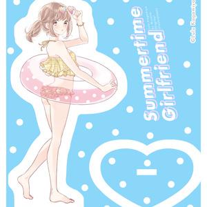 アクリルフィギュア プールサイドの女の子