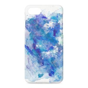 iPhoneケース 水彩-青