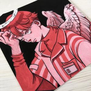 ミニ原画「コンビニ天使」(額付き)