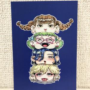 POST CARD「ガールズトーテムポール」