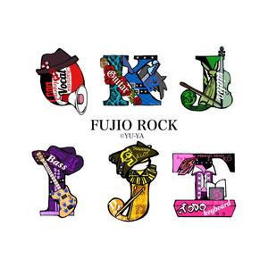FUJIO ROCK initial strap