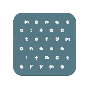 m:f アルファベット タオルハンカチ ネイビー