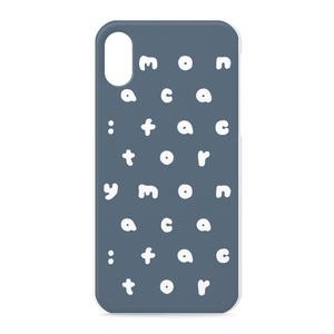 m:f アルファベット iPhoneケース ネイビー
