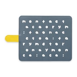 m:f アルファベット Android手帳型ケース ネイビー