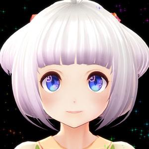 【無料】VRoid用テクスチャ ハート型ハイライト