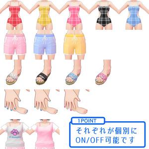 【VRoid用衣装テクスチャ】夏セット