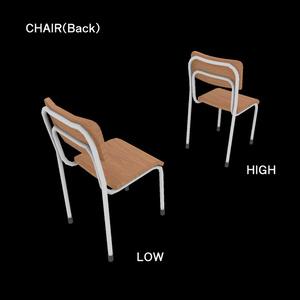 【3Dモデル】学校の机と椅子【FBX】
