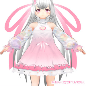 【VRoid用衣装テクスチャ】ちびろいどのドレス