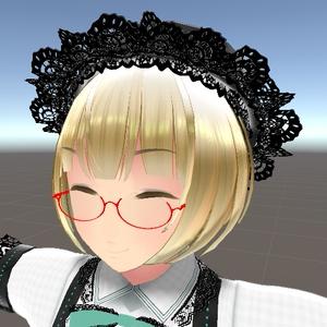 シンプルなアンダーリム眼鏡