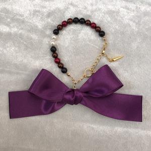 刀剣乱舞*大倶利伽羅イメージ*ガラスパールのブレスレット&羽織紐