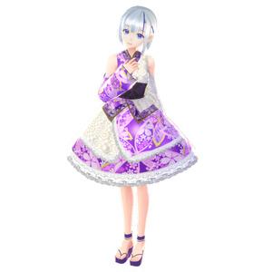 【VRoid】アザリアパープル浴衣ドレス