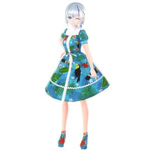 【VRoid】ハイビスカスサマーワンピース