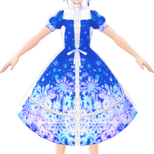 【VRoid】クリスタルブリザードワンピース
