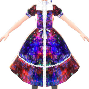 【VRoid】ダーク魔女ワンピース