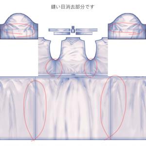 【VRoid】縫い目なしワンピース(半袖)テクスチャ
