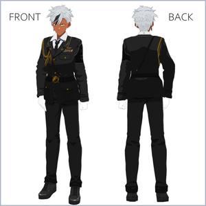 【#VRoid】軍服【セルルック対応】